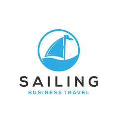 Sailing boat logo design - modern simple and clean vector