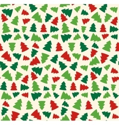 Seamless Christmas Pattern with Evergreen Trees vector