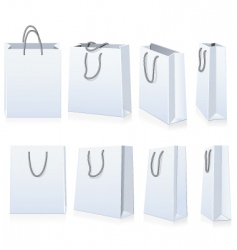Set of shopping bags vector