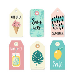 Set of vintage sale and gift tags and labels vector
