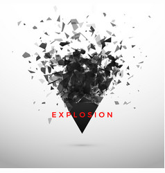 shatter and destruction dark triangle abstract vector image