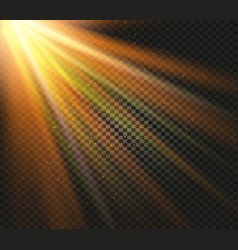 shining orange color light effects glowing vector image