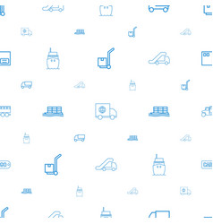 shipping icons pattern seamless white background vector image