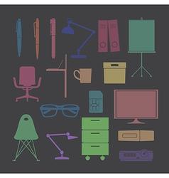 Silhouette flat icon color vector