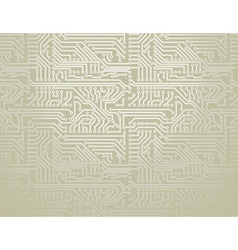 Silver circuit board background vector