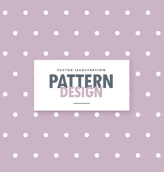 soft purple polka dots pattern background vector image