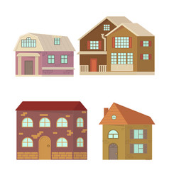 stone home or cottage building vector image