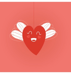 string in red vector image