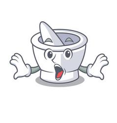 Surprised mortar mascot cartoon style vector
