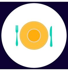 Tableware computer symbol vector