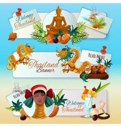 Thailand Touristic Banners Set vector image