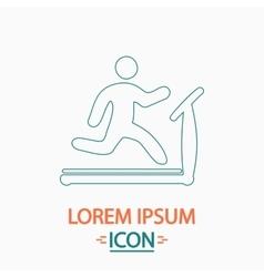 Treadmill computer symbol vector