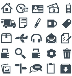 Universal set of icons for mobile applications and vector image