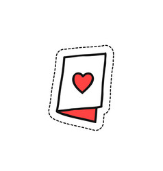 valentine card doodle icon vector image