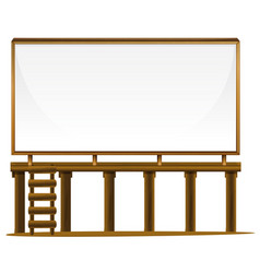 Whiteboard on wooden bar vector
