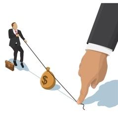 fighting over money vector image vector image