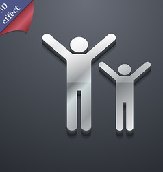 happy family icon symbol 3D style Trendy modern vector image