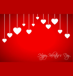 happy valentines day card with hearts vector image vector image