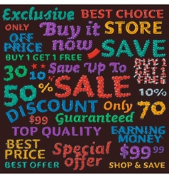 Seamless colorful sale discount pattern vector image vector image