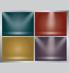 Set of clear empty studio light earth tone vector
