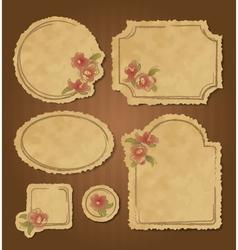 Set of retro floral vintage frames and labels vector image vector image