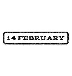 14 february watermark stamp vector image vector image