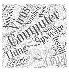 Computer Security Word Cloud Concept vector image vector image