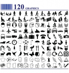 everyday icons vector image vector image