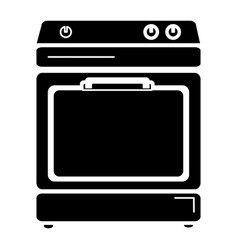 kitchen oven isolated icon vector image vector image