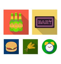 Bar pub restaurant cafe pub set collection vector