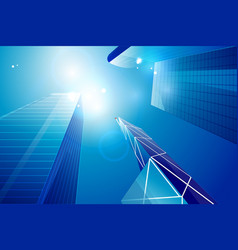 business center skyscrapers background vector image
