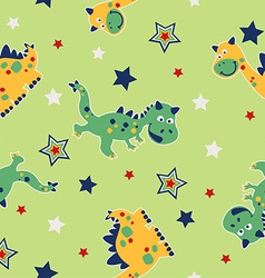 Dragon and stars seamless pattern vector image vector image