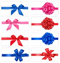 Group with color bows vector
