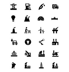 Industrial icons 3 vector