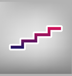 stair up sign purple gradient icon on vector image vector image