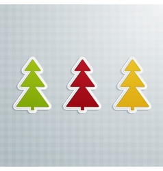 Colored Fir-Trees Set of Four vector image vector image