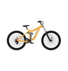 downhill sport bicycle isolated icon vector image vector image