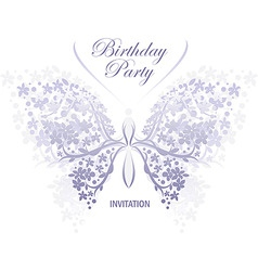 invitation design butterfly vector image