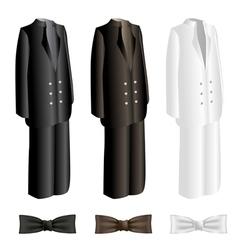 Men suit and necktie set vector image
