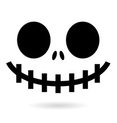 scary halloween ghost or pumpkin face design vector image vector image