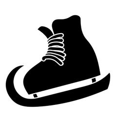The skates icon simple style vector image vector image