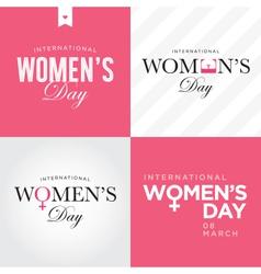 womens day set logo vector image vector image