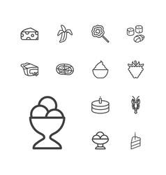 13 delicious icons vector