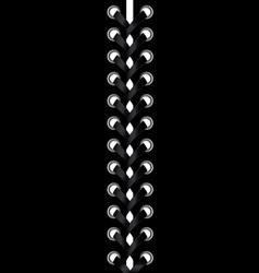 Abstract black lacing vector