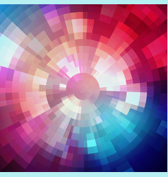 abstract shining concentric mosaic vector image