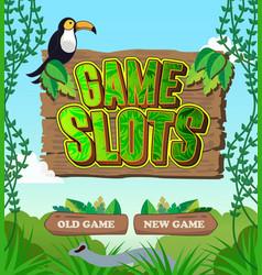 An intro screen for a mobile game vector