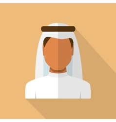 Arabic man in traditional muslim hat vector image