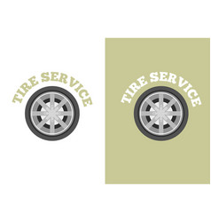 automobile tire service logo vector image