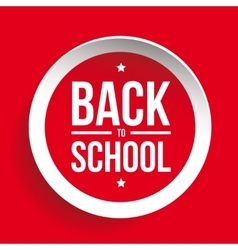Back to School sign button vector
