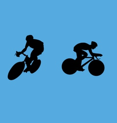 bicyclist collection vector image